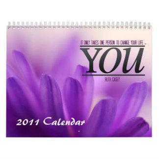 Calendario inspirado de motivación 2011 de las