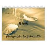 Calendario inspirado del pájaro