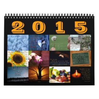 Calendario inspirado del verso de la biblia 2015