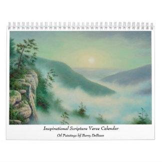 Calendario inspirado del verso de la escritura