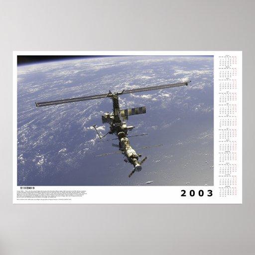 Calendario internacional de la estación espacial p poster