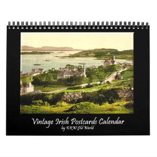 Calendario irlandés 2010 de la postal del vintage