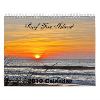 Calendario, isla del fuego de la resaca calendario