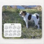 Calendario Jack Russell Terrier de 2015 perros Mouse Pad