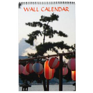 Calendario japonés de la linterna de papel