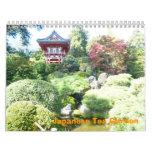Calendario japonés del jardín de té