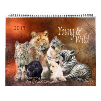 Calendario joven y salvaje 2015 del arte