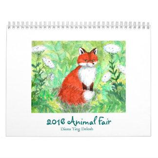 Calendario justo animal 2016