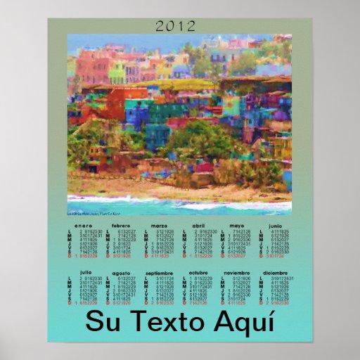Calendario La Perla Calendar Poster
