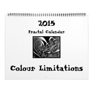 "Calendario ""limitaciones del fractal del color """