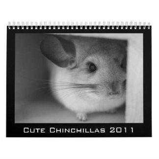 Calendario lindo 2011 de la chinchilla