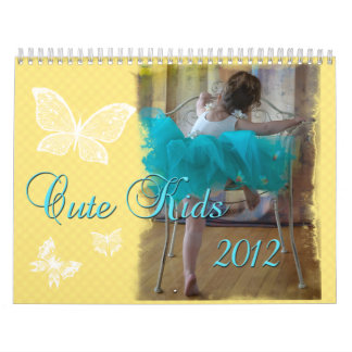 Calendario lindo 2012 de los niños