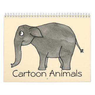 Calendario lindo 2014. de los animales del dibujo