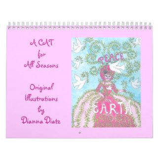 "Calendario lindo 2014 del gato - ""un gato por"