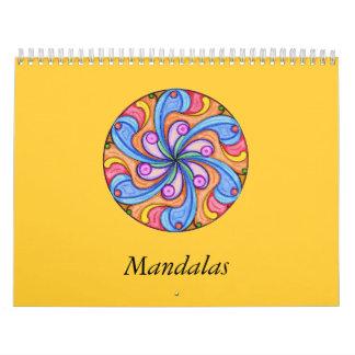 Calendario lindo del libro de colorear de la manda