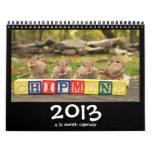 Calendario lindo loco de los Chipmunks 2013