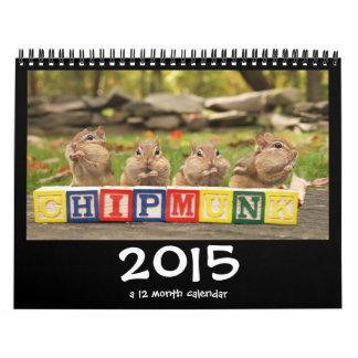 Calendario lindo loco de los Chipmunks 2015