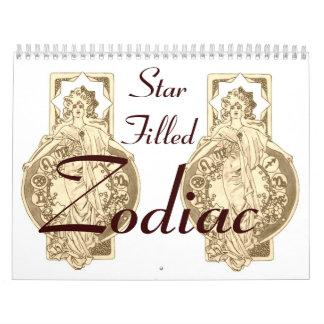 Calendario llenado estrella del zodiaco