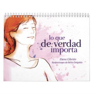 Calendario Lo que de Verdad Importa Calendar