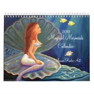 Calendario mágico de 2010 sirenas