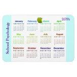 Calendario magnético de la psicología de 2014 escu iman rectangular