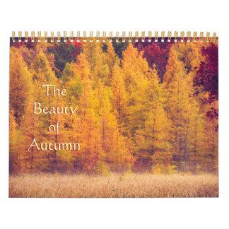 Calendario magnífico, colorido de la fotografía