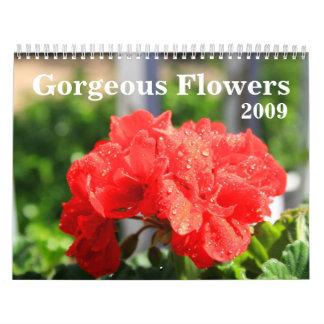 Calendario magnífico de las flores