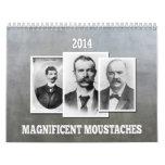 Calendario magnífico de los bigotes/de los bigotes