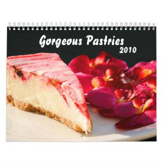 Calendario magnífico de los pasteles