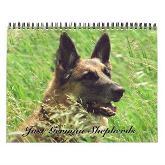 Calendario magnífico del pastor alemán