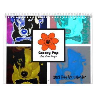 Calendario maravilloso del arte del perro del