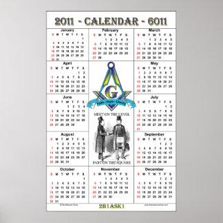 Calendario masónico 2011 póster