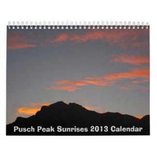Calendario máximo 2013 de las salidas del sol de P