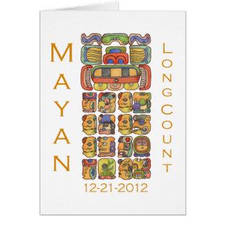 Calendario maya 12-21-2012 tarjeta de felicitación