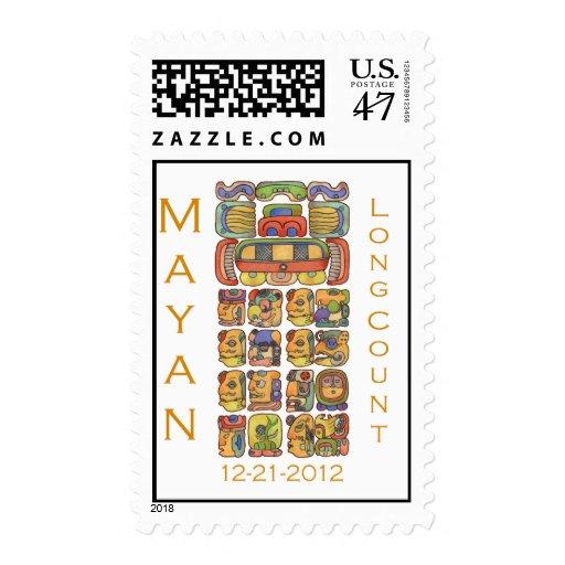 Calendario maya 12-21-2012 timbre postal
