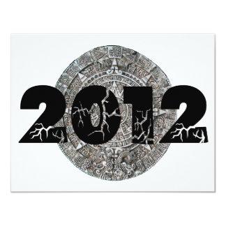 """Calendario maya 2012 invitación 4.25"""" x 5.5"""""""