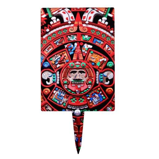 Calendario maya figuras para tartas