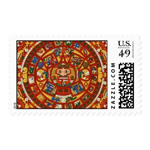 Calendario maya antiguo del Azteca del maya Franqueo