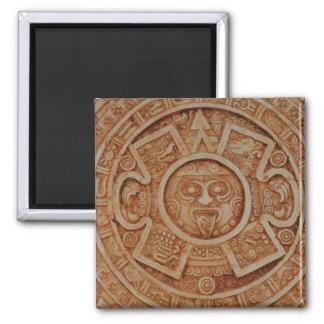 Calendario maya antiguo imán cuadrado