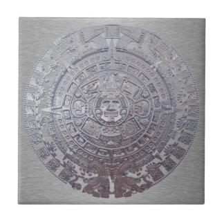 Calendario maya azulejo cuadrado pequeño
