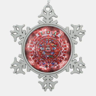 Calendario maya brillante adornos