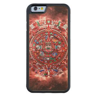 Calendario maya brillante funda de iPhone 6 bumper arce