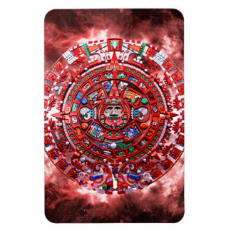 Calendario maya brillante imán