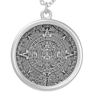 Calendario maya colgante redondo