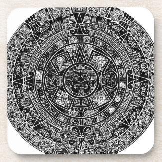 Calendario maya posavasos de bebida