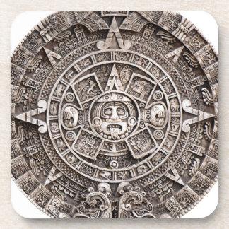Calendario maya posavasos de bebidas