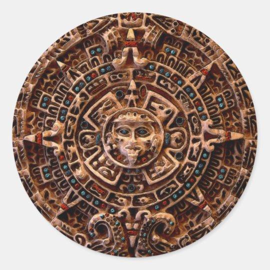 Calendario MAYA de Sun de México Pegatina Redonda