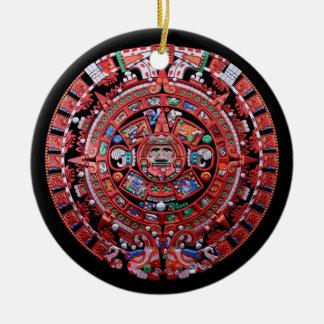Calendario maya de Sunstone del metal Ornamentos De Reyes