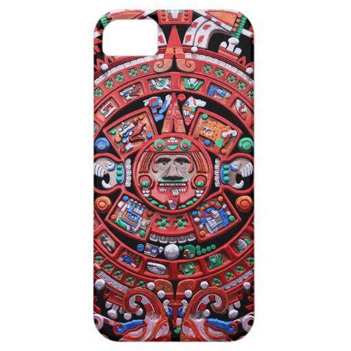 Calendario maya de Sunstone del metal iPhone 5 Case-Mate Funda