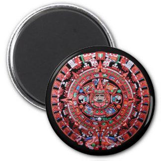 Calendario maya de Sunstone del metal Imán Redondo 5 Cm